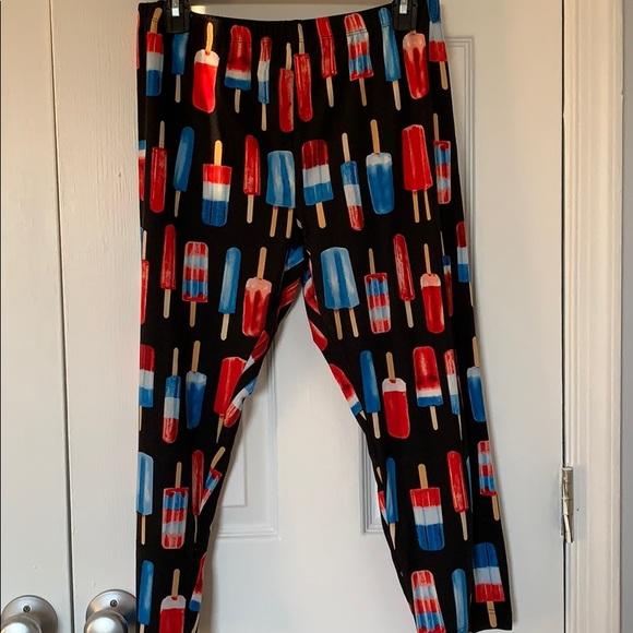 No Boundaries Pants - Popsicle print Capri leggings